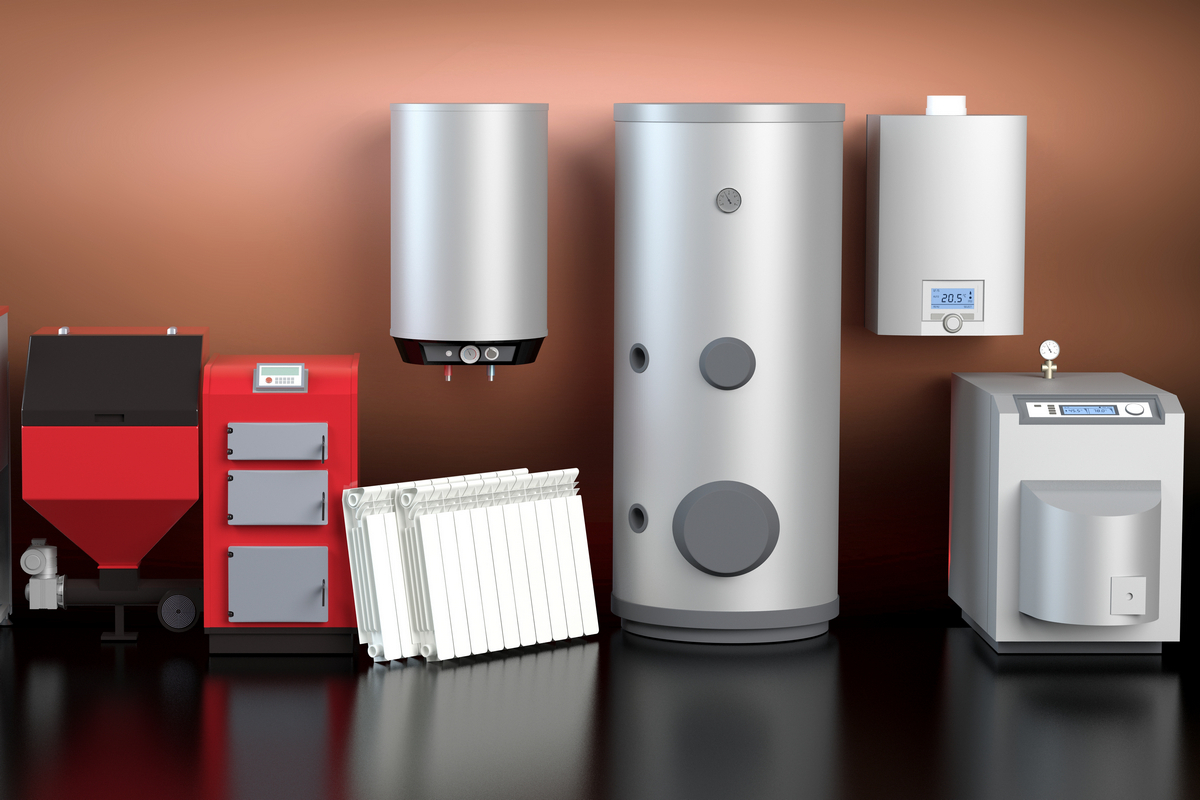 Heating system collection, red version